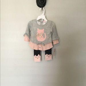 Little Lass Matching Sets - Little Lass 2pc Kitten Set